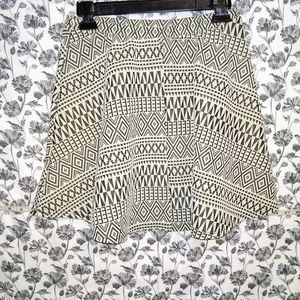 Maurice's- Tribal/Taupe Stretch Circle Midi Skirt